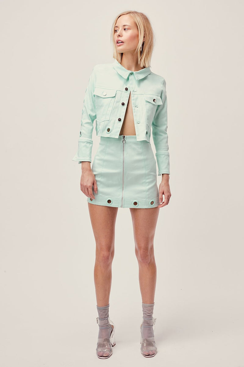 For Love and Lemons Creme Puff Jacket Bluebell