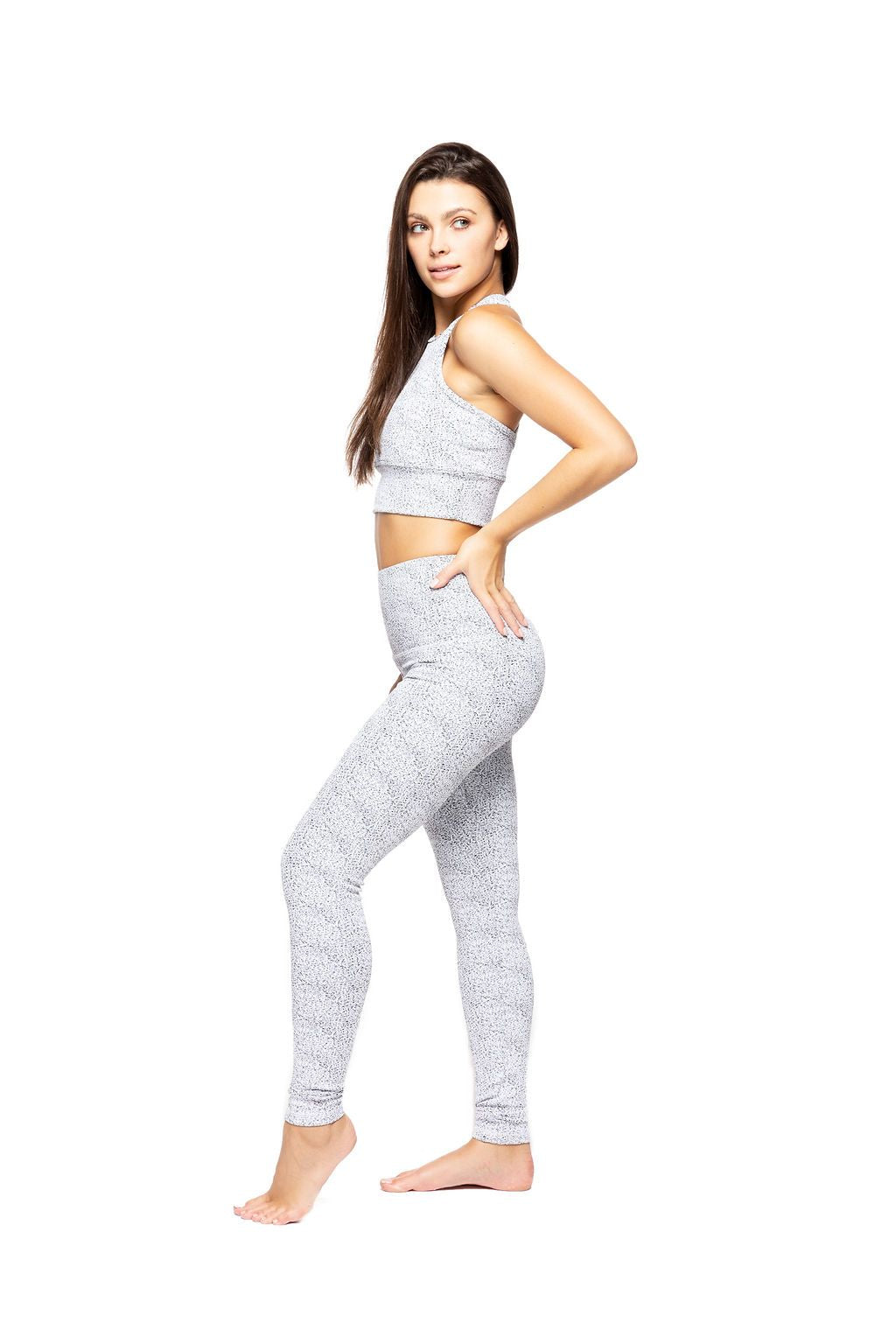 0ac4eec199e3dc Strut This Kendall Ankle Legging White Sprinkle – Bliss Bandits