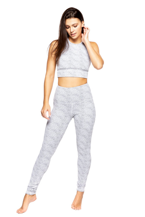 Strut This Kendall Ankle Legging White Sprinkle