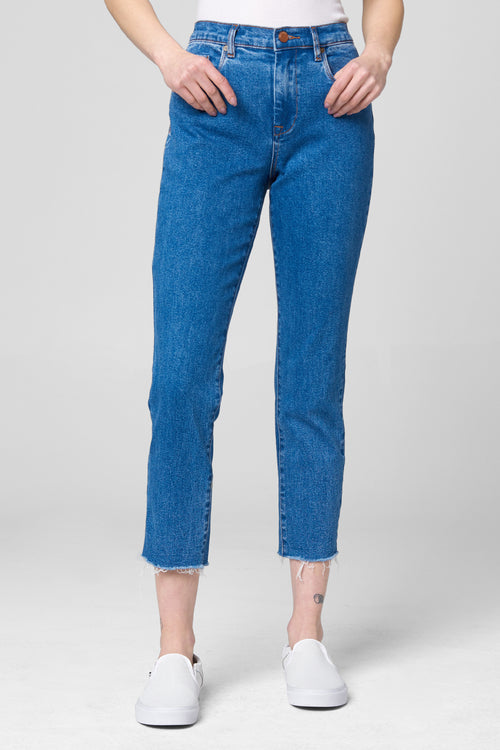 Blank NYC Madison Crop Jeans Varsity Blue