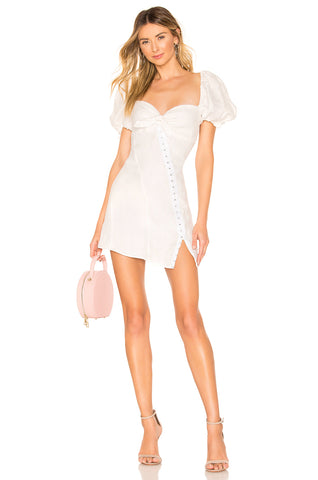 For Love and Lemons Peony Mini Dress Tangerine