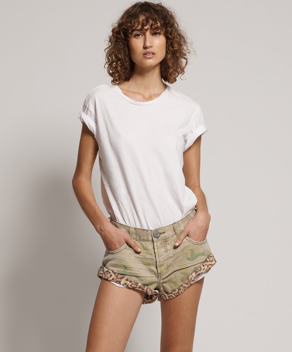 One Teaspoon Safari Camo Bandits Jean Shorts