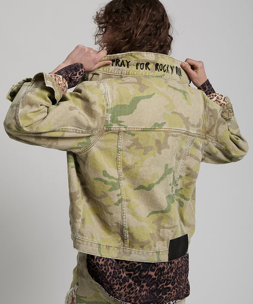 One Teaspoon Safari Camo Bandit Jacket