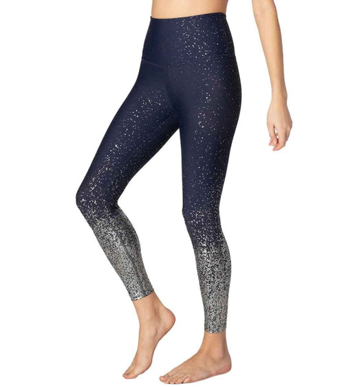 Beyond Yoga Alloy Ombre High Waisted Midi Yoga Leggings Navy Nocturnal
