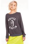 Wildfox Coffee or Coffin Baggy Beach Jumper Sweater