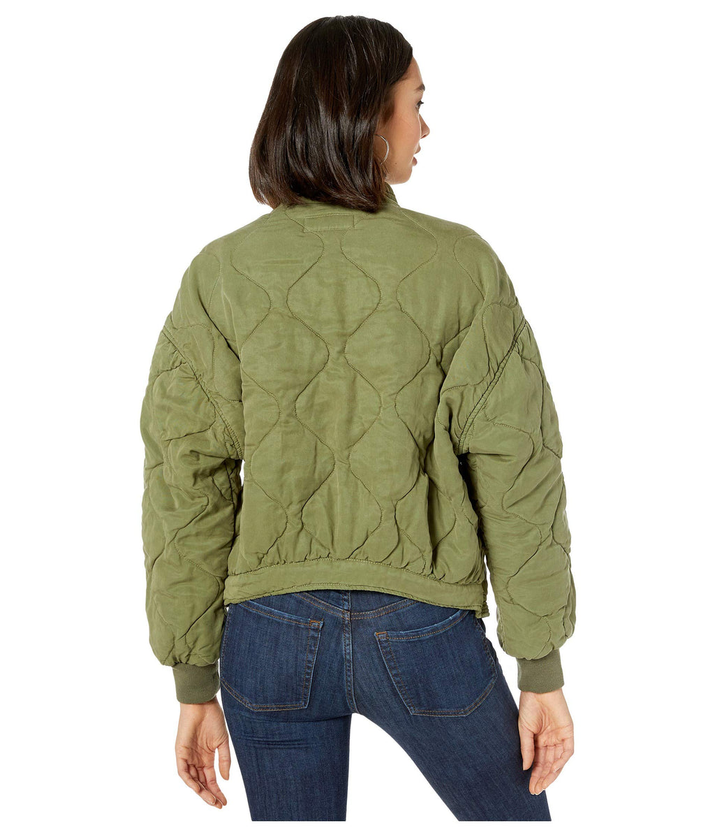 BLANK NYC Quilted Jacket Burnt Sage