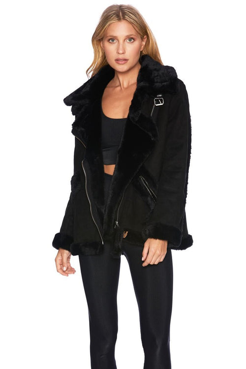 Beach Riot Aspen Moto Jacket Black