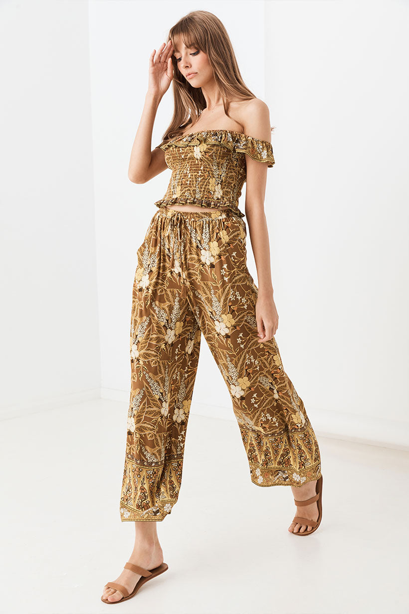 Spell & the Gypsy Bianca Wide Leg Pants Earth