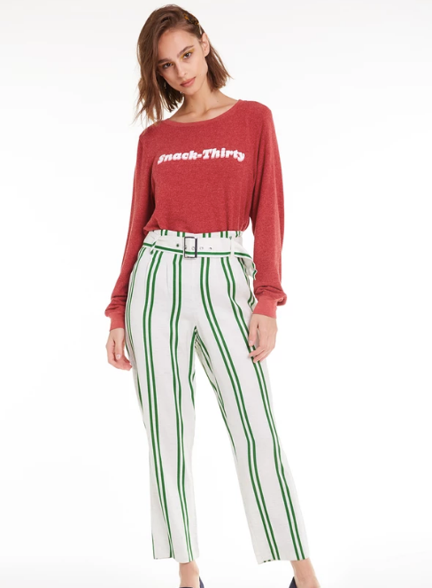 Wildfox Snack Thirty Baggy Beach Jumper Sweater