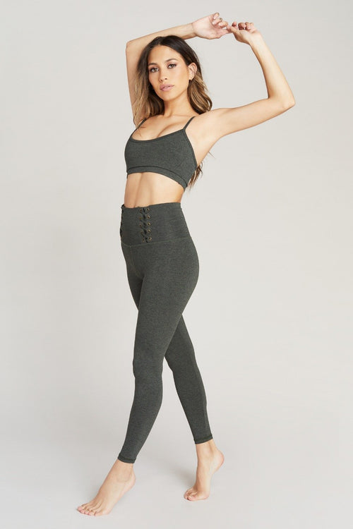 Strut This Max Ankle Legging Olive Speckle