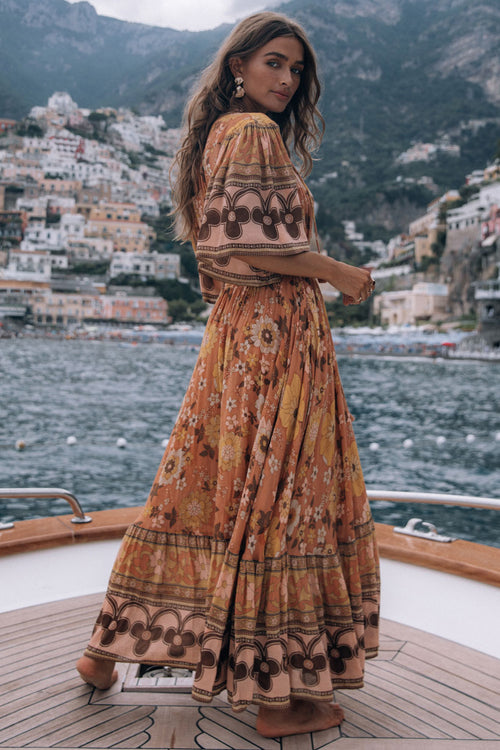 Spell & the Gypsy Buttercup Gown Dress Sunrise