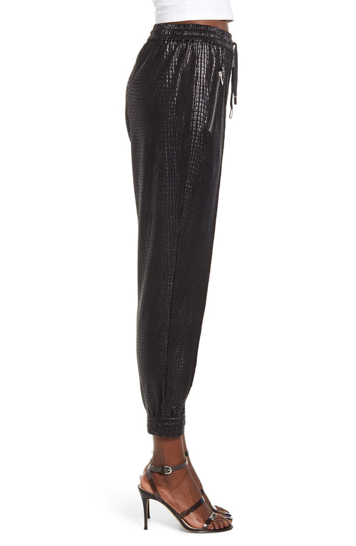 Blank NYC Faux Leather Drape Front Pants Iron Girl