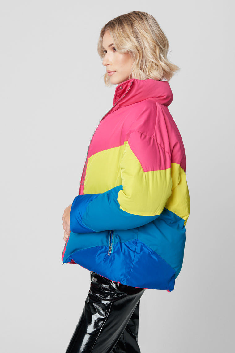 Blank NYC Temptations Neon Puffer Jacket