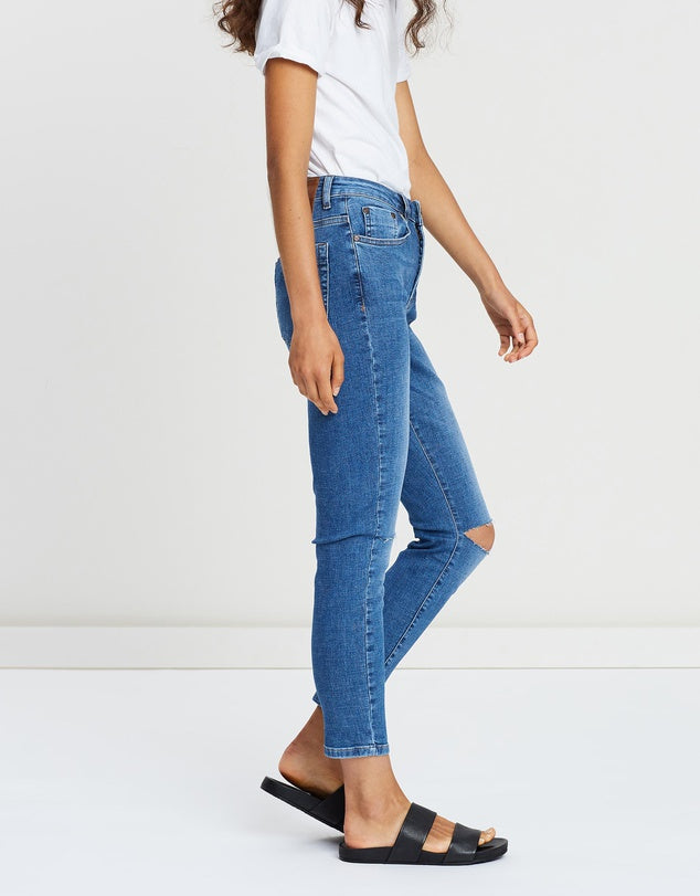 One Teaspoon Cali Blue Freebirds High-Waist Skinny Jeans