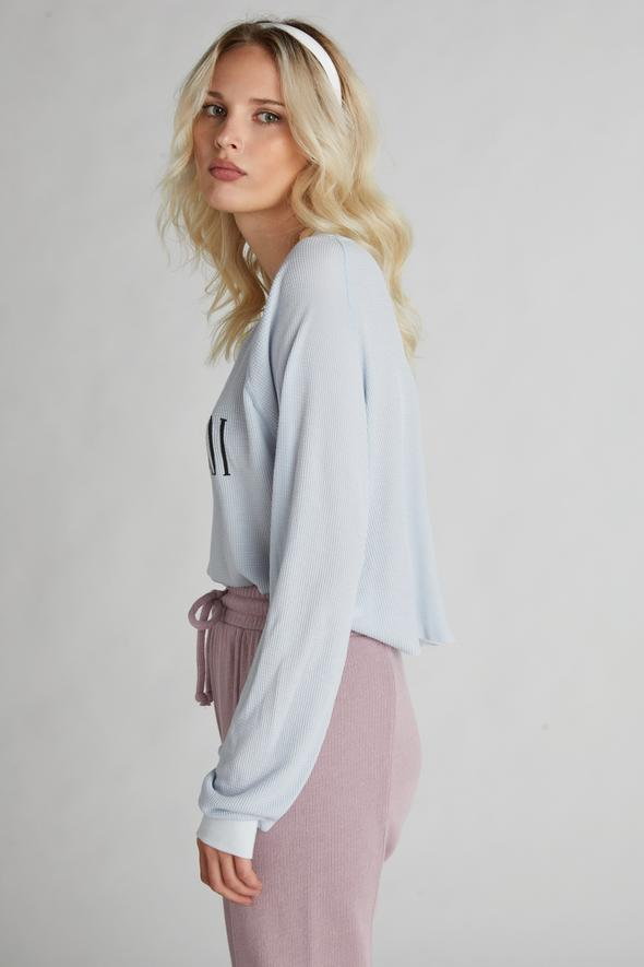 Wildfox Excusez Moi Monte Crop Sweater