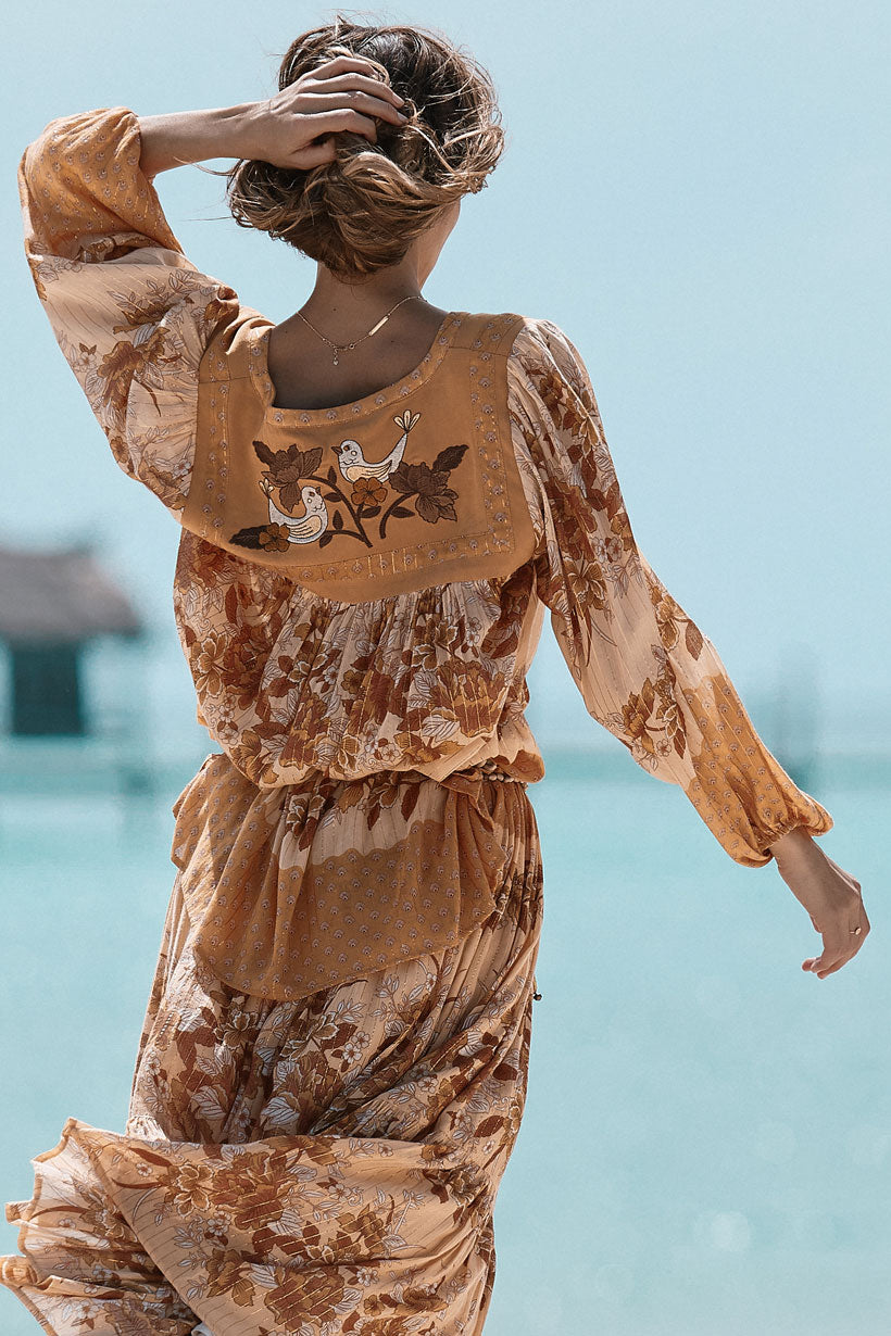Spell & the Gypsy Coco Lei Blouse Top Caramel