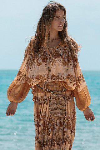 Spell & the Gypsy Seashell Blouse Top Sand
