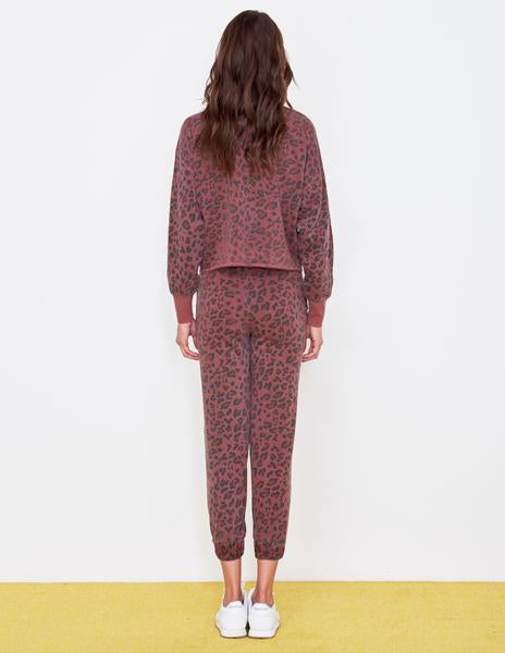 Sundry Leopard Drapey Sweater Pigment Spice