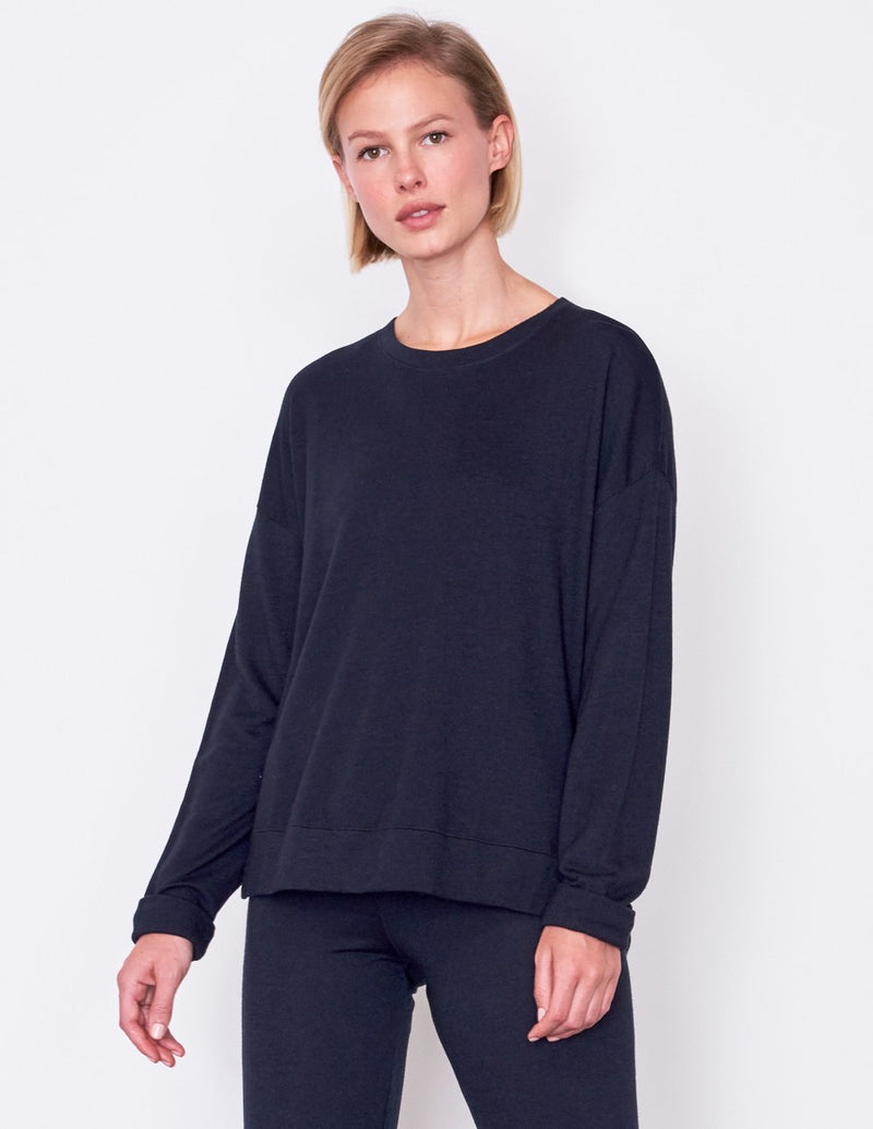 Sundry Hi Low Crew Neck Sweater