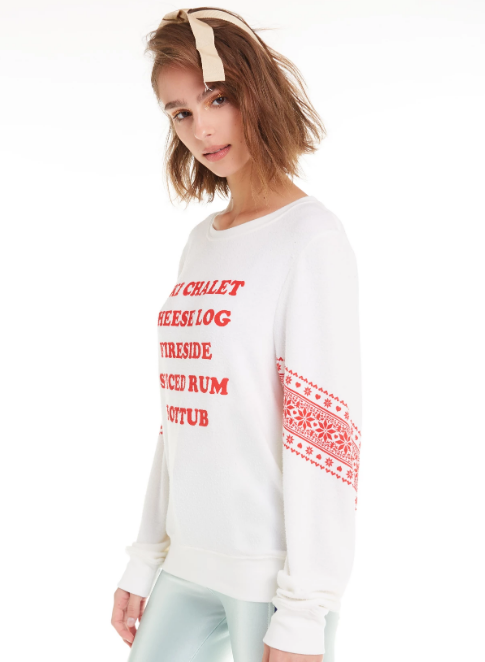 WILDFOX Ski List Baggy Beach Jumper Sweater