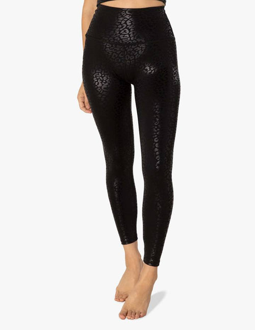 Beyond Yoga Shiny Leopard High Waisted Midi Legging