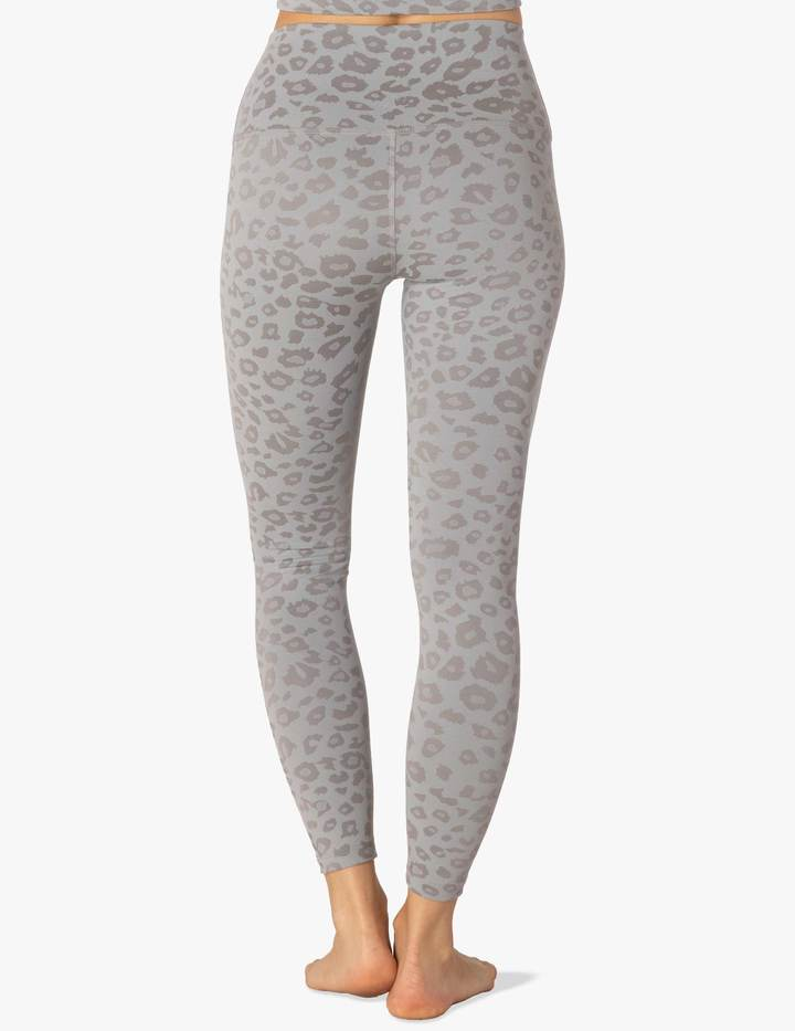 Beyond Yoga Leopard Jacquard High Waisted Midi Legging