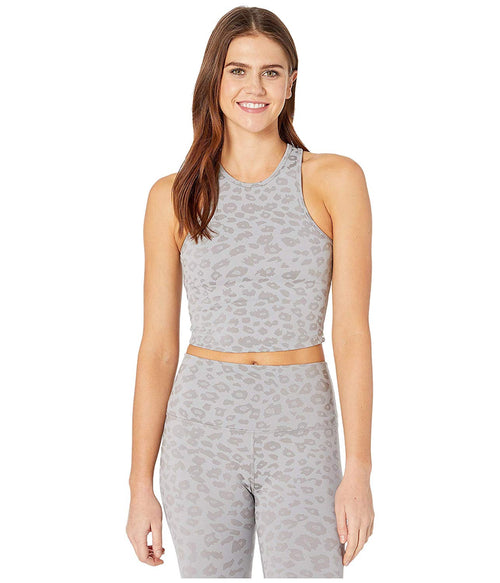 Beyond Yoga Studio Cropped Tank Grey Leopard