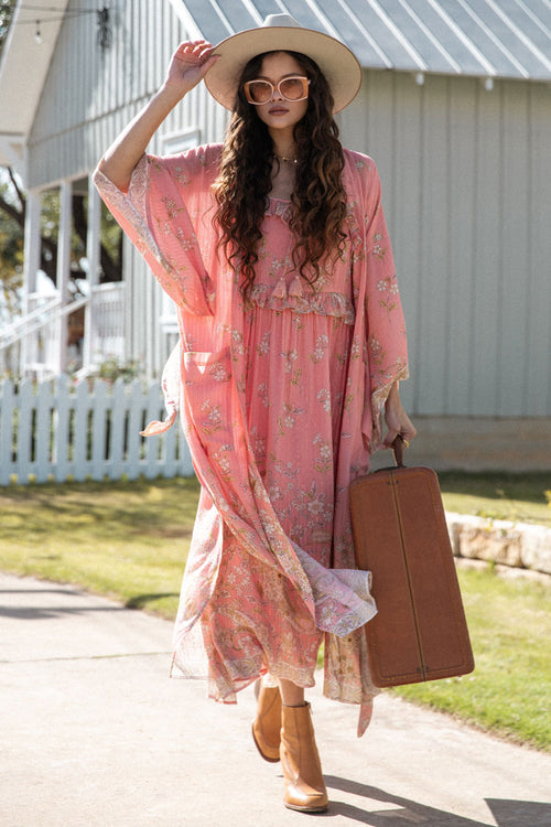 Spell & the Gypsy Hendrix Robe Dusty Pink