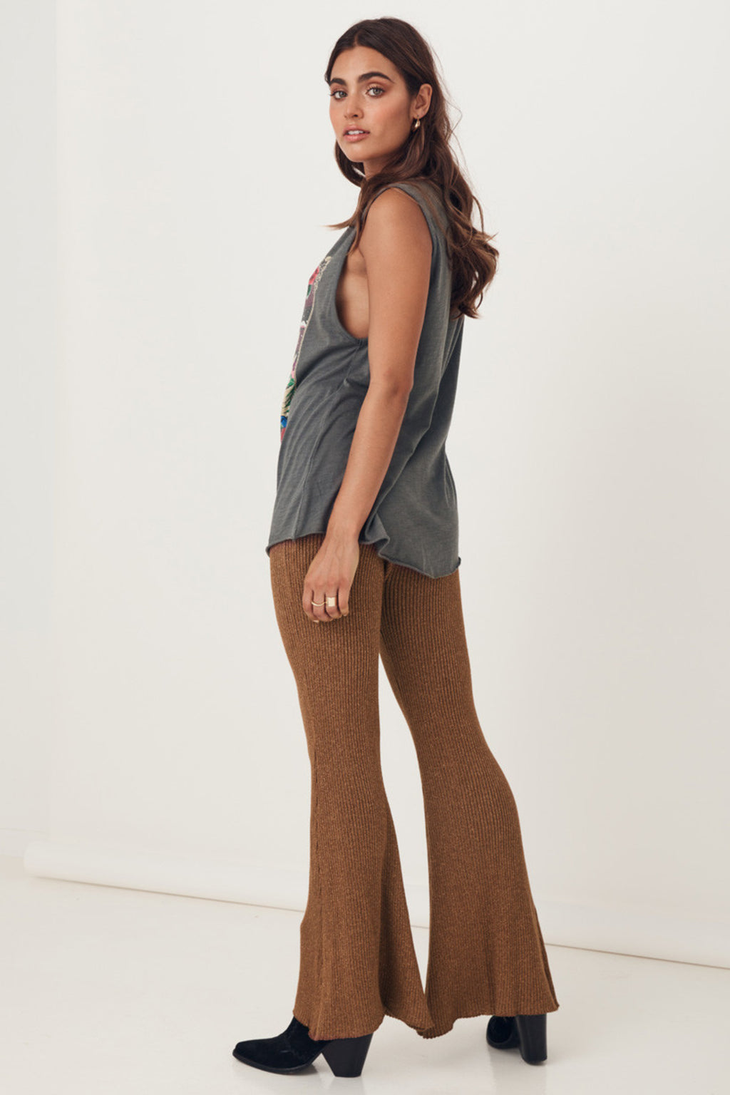 Spell & the Gypsy Margot Knit Bells Pants Copper