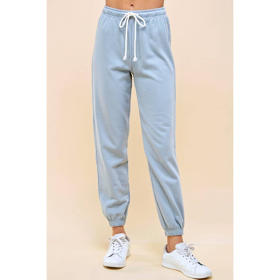 Park Adelyn Organic Cotton Heavy Weight Sweatpants Soft Sky