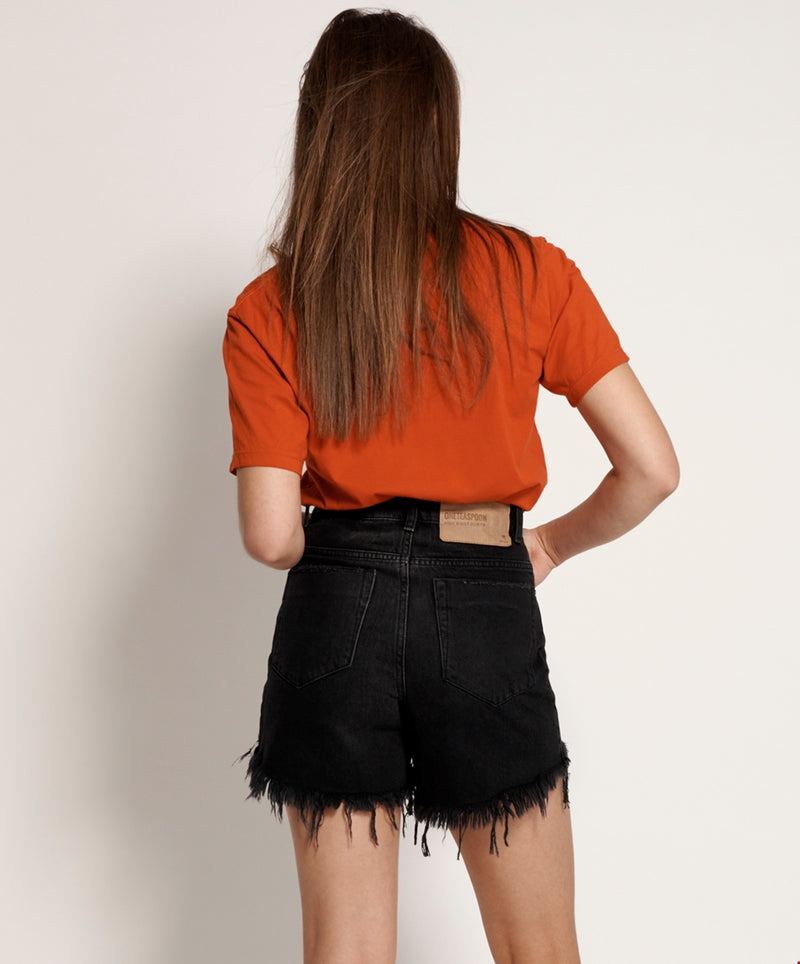 One Teaspoon Black Bonita High Waist Jean Shorts