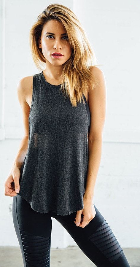 Joah Brown Lazy Day Tank Charcoal
