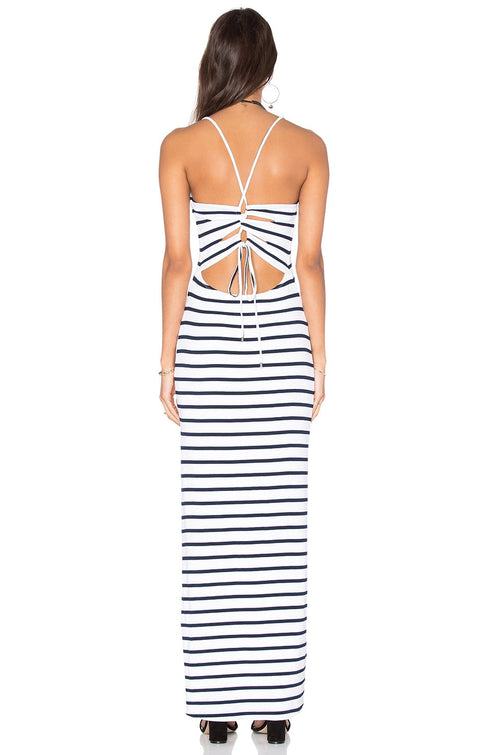 Lovers + Friends Enamoured Navy Stripe Dress