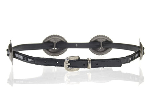 LoveStrength Phoenix Black Concho Leather Belt