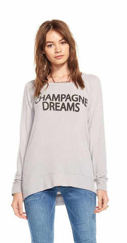 Chaser Champagne Dreams Drape Back Pullover