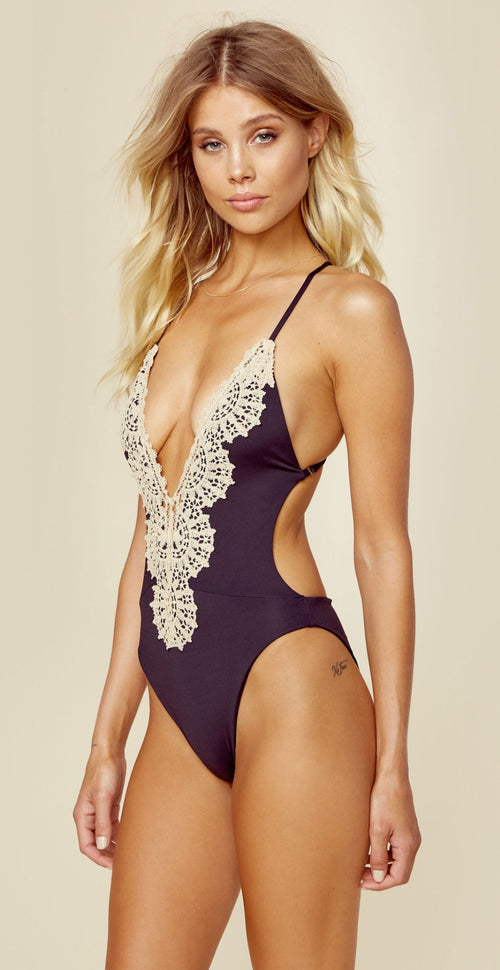 Blue Life Swim Eclipse One Piece Black