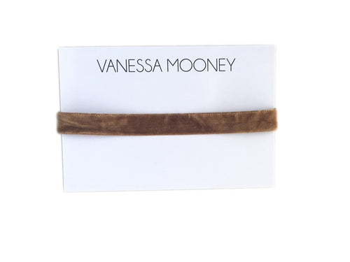 Vanessa Mooney Brown Velvet Basic Choker