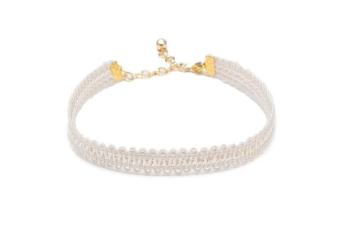 Vanessa Mooney Cream Lace Choker