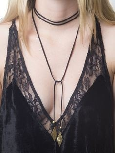 Vanessa Mooney Voltage Black Diamond Wrap Choker