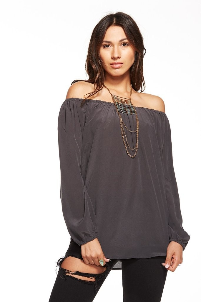 Chaser Silk Open Sleeve Boho Blouse