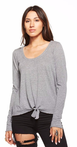 Chaser Tie Front Long Sleeve Shirt