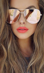 Quay Vivienne Gold/Rose Mirror Sunglasses