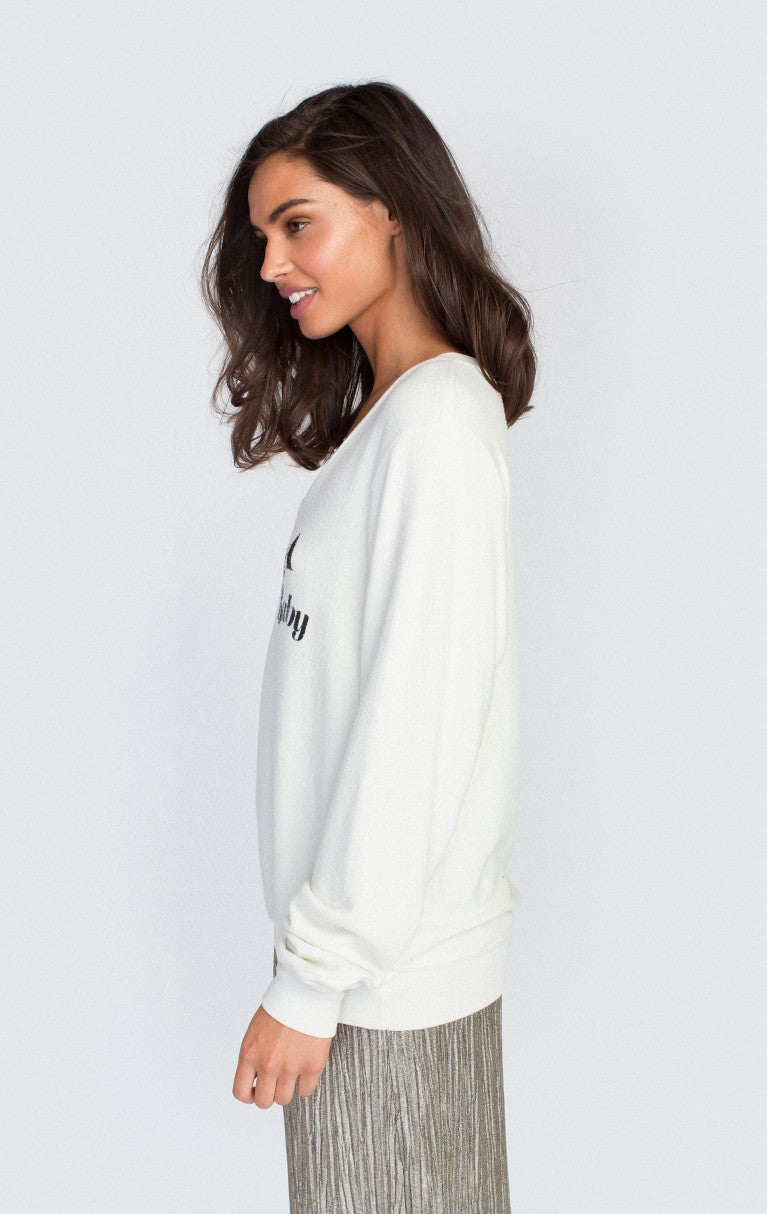 Wildfox LA Baby Baggy Beach V Sweater