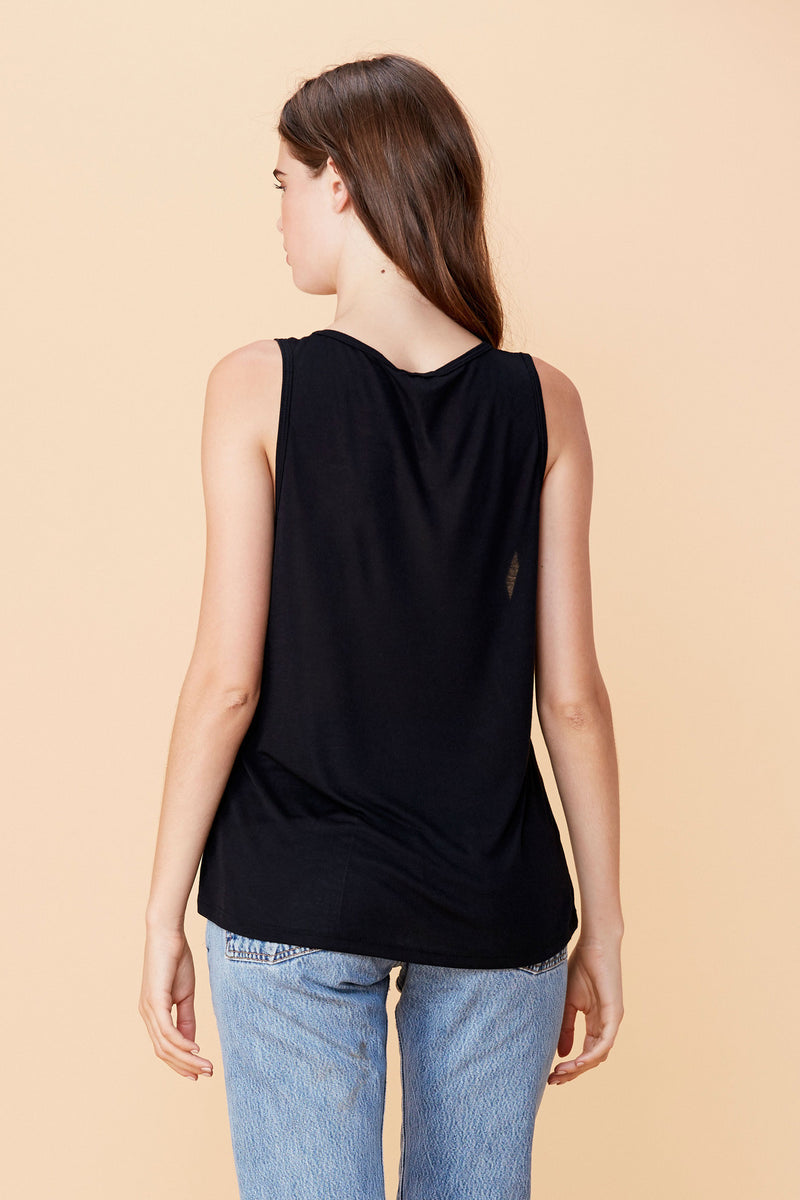 LNA Double Strap Tank Black