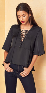 Lovers + Friends Boulevard Top Black