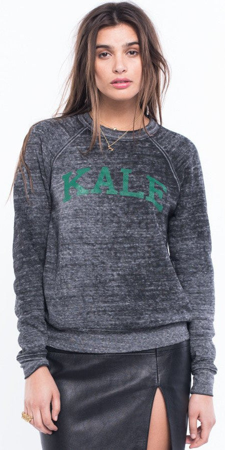 Suburban Riot Kale Burnout Wash Sweatshirt