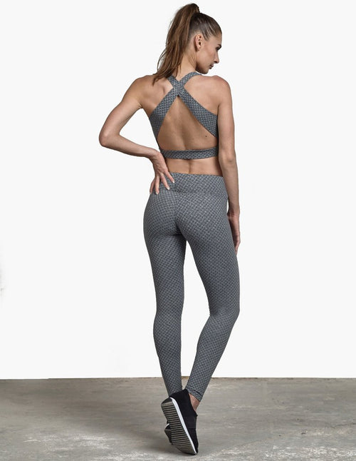 Track & Bliss Honeycomb Textured Legging
