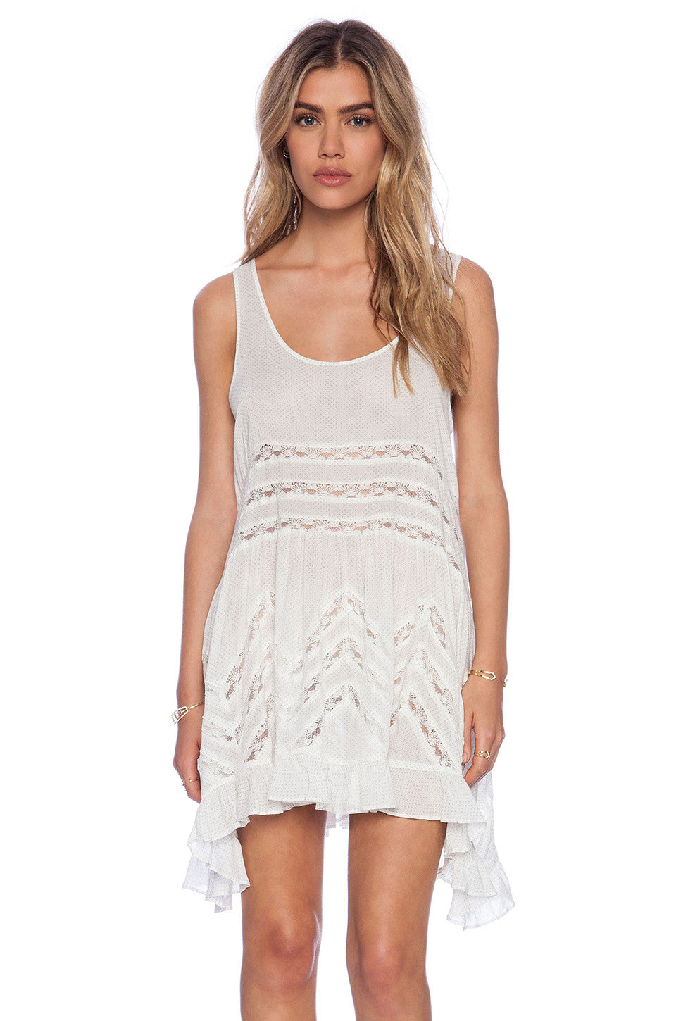 Free People Slip Voile Trapeze White
