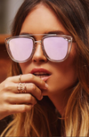 Quay French Kiss Clear Rose Sunglasses