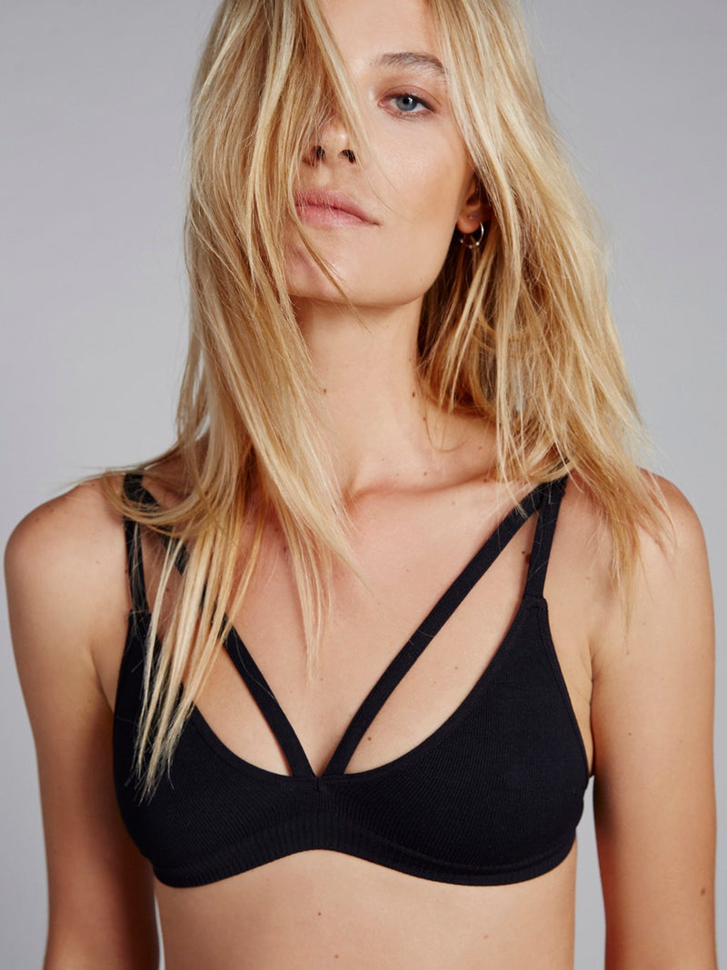 Free People Keira Seamless Bralette Black